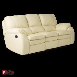 Кожен диван - с релакс механизъм CARLA