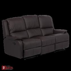 Кожен диван - с релакс механизъм MAYA