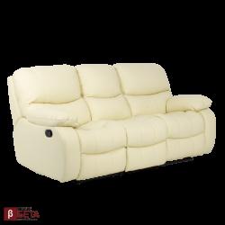Кожен диван - тройка LOUISA