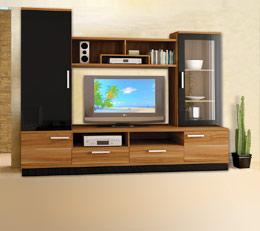 Мебели за хола и всекидневна - секции, шкафове, етажерки, маси