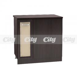 Шкаф за ъгъл с врата и рафт